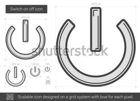 Wechseln aus line Symbol Vektor isoliert Stock foto © RAStudio