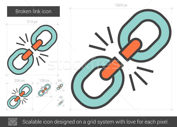 Broken link line icon. Stock photo © RAStudio