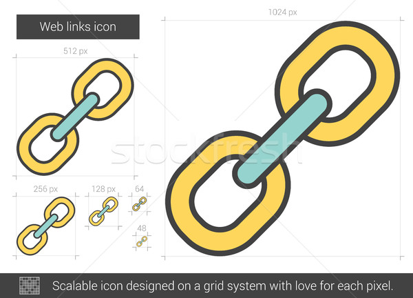 Web links line icon. Stock photo © RAStudio