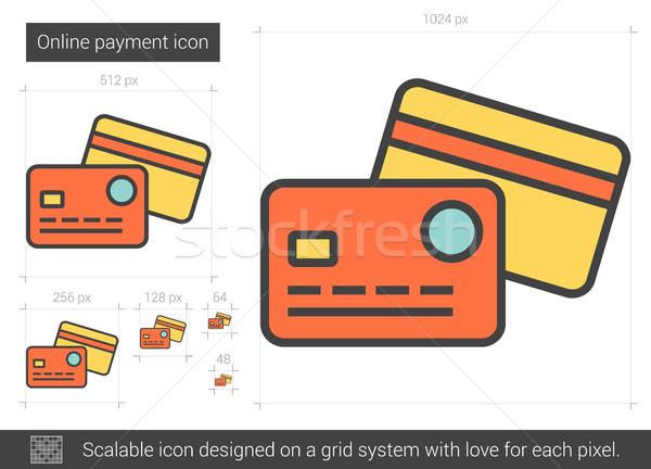 Online payment line icon. Stock photo © RAStudio