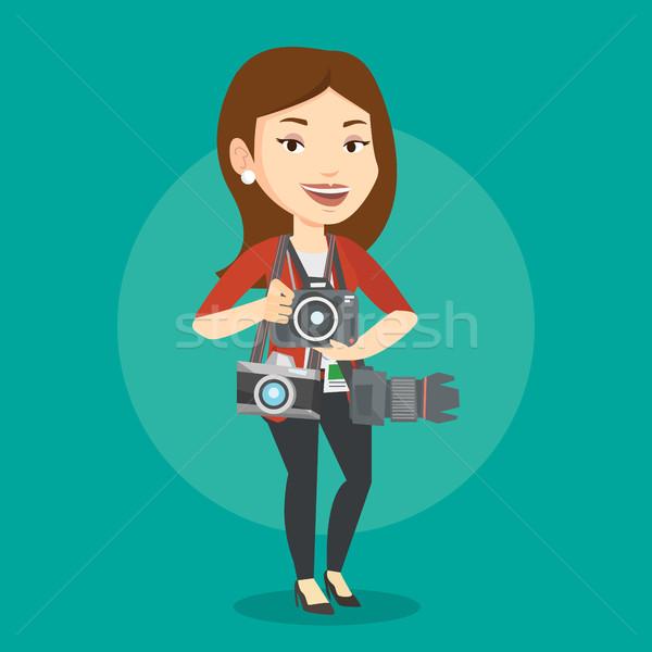 カメラマン 写真 パパラッチ 多くの ストックフォト © RAStudio