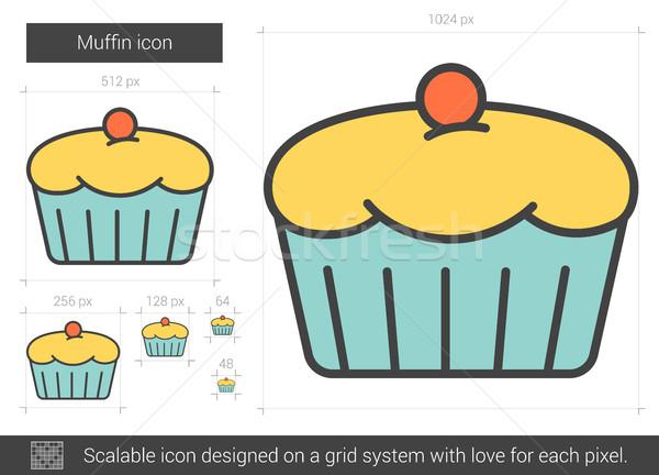 Muffin line icon. Stock photo © RAStudio