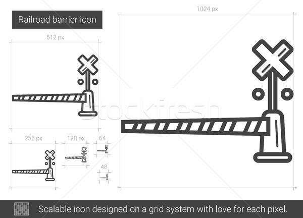 Spoorweg lijn icon vector geïsoleerd witte Stockfoto © RAStudio