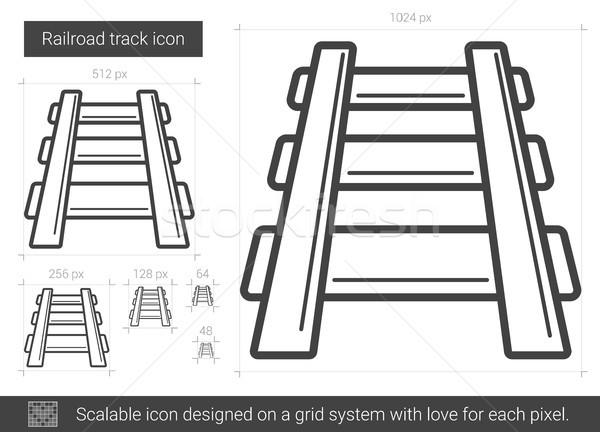 Spoorweg track lijn icon vector geïsoleerd Stockfoto © RAStudio