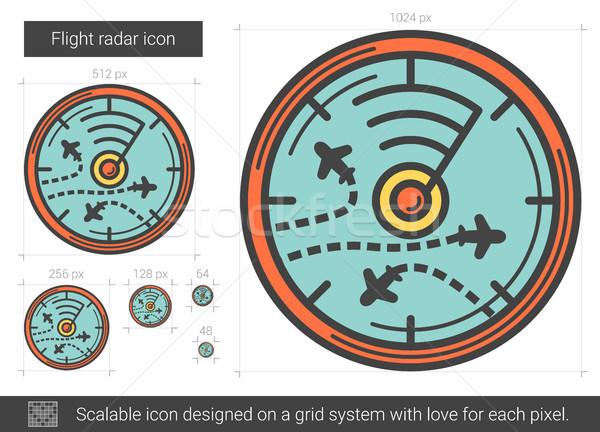 Vôo radar linha ícone vetor isolado Foto stock © RAStudio