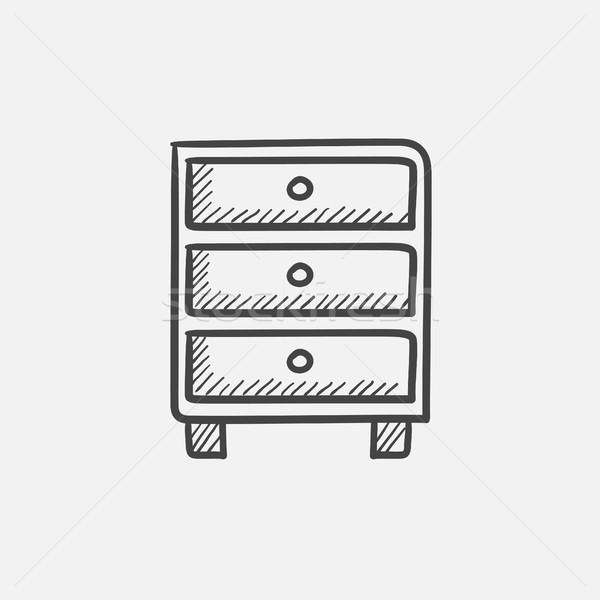 Petto cassetti sketch icona web mobile Foto d'archivio © RAStudio