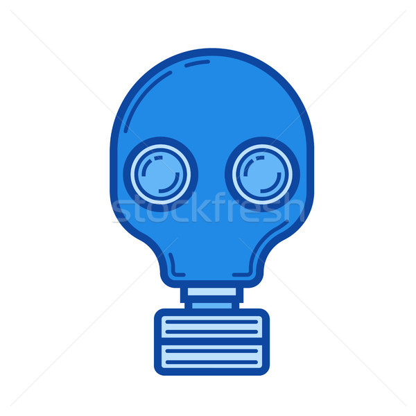 Respirator line icon. Stock photo © RAStudio