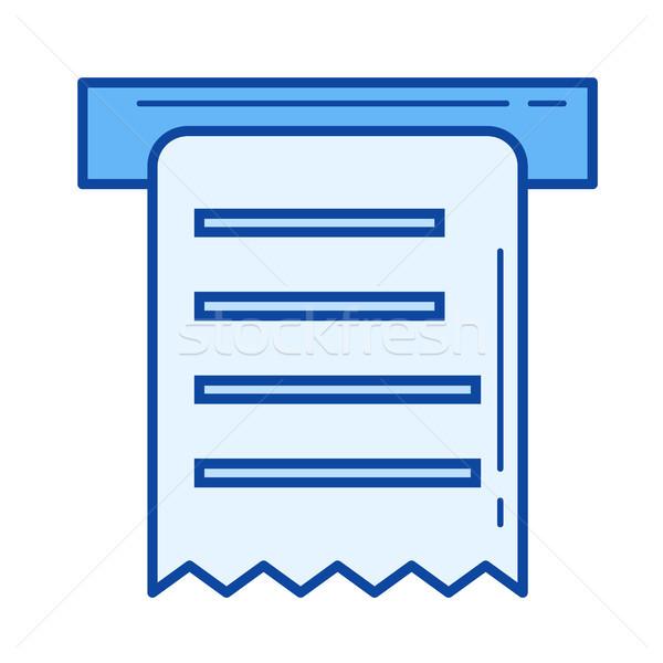 Chèque ligne icône vecteur isolé blanche Photo stock © RAStudio