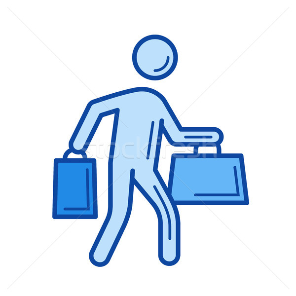 Menor cliente línea icono vector aislado Foto stock © RAStudio