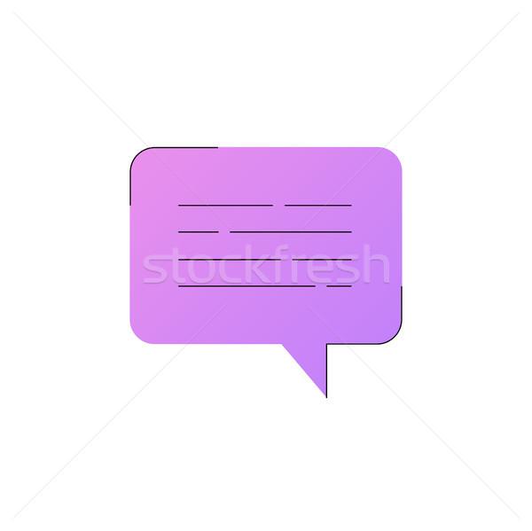 Neon czat bańki wektora line ikona odizolowany Zdjęcia stock © RAStudio