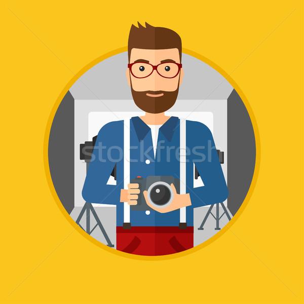 фотограф камеры фото студию борода Сток-фото © RAStudio