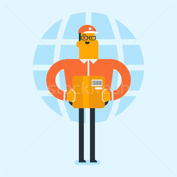 Działalności pracownika międzynarodowych stanie usługi młodych Zdjęcia stock © RAStudio