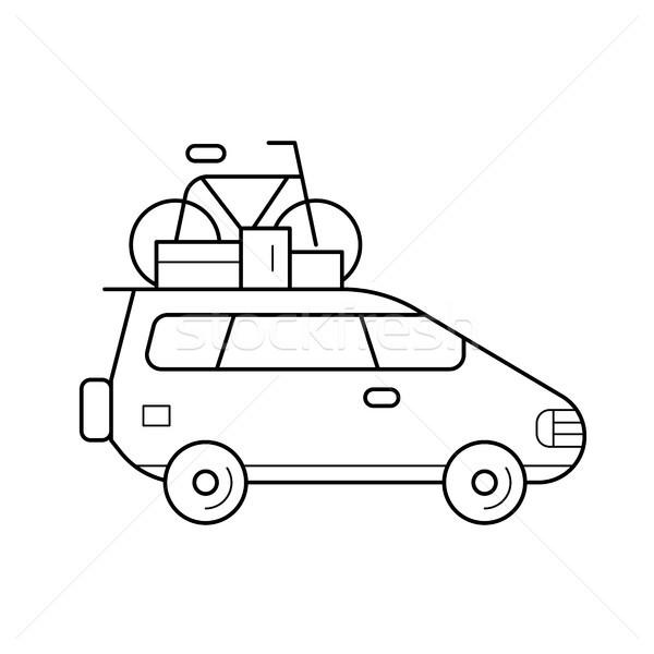 Car trip line icon. Stock photo © RAStudio
