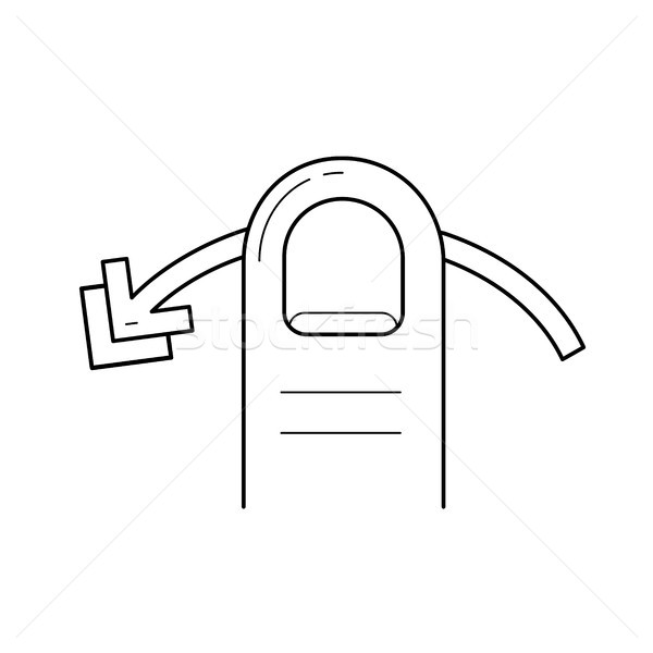 Swipe horizontally line icon. Stock photo © RAStudio