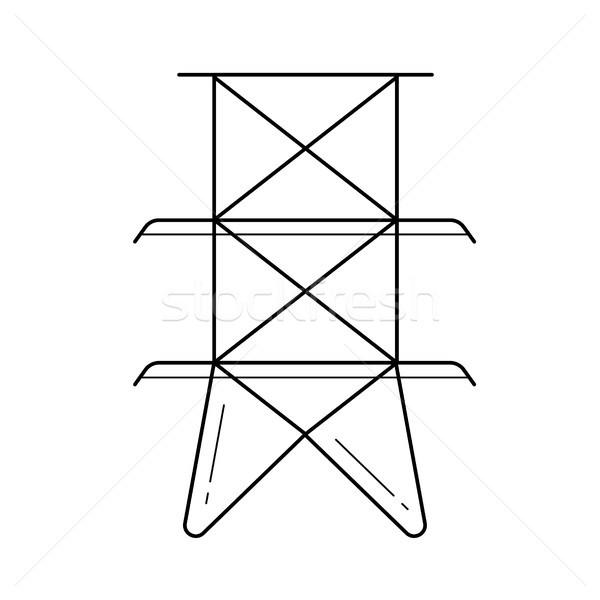 Elektrische toren vector lijn icon geïsoleerd Stockfoto © RAStudio