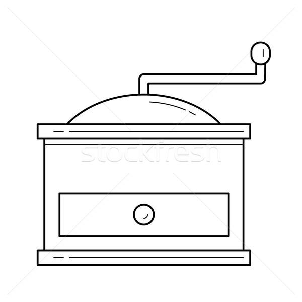 コーヒー グラインダー ベクトル 行 アイコン 孤立した ストックフォト © RAStudio