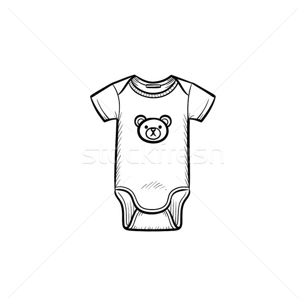 Kid's wear hand drawn outline doodle icon. Stock photo © RAStudio