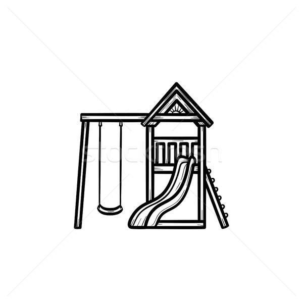 Outdoor playground hand drawn outline doodle icon. Stock photo © RAStudio