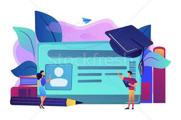 Smartcards for schools concept vector illustration. Stock photo © RAStudio