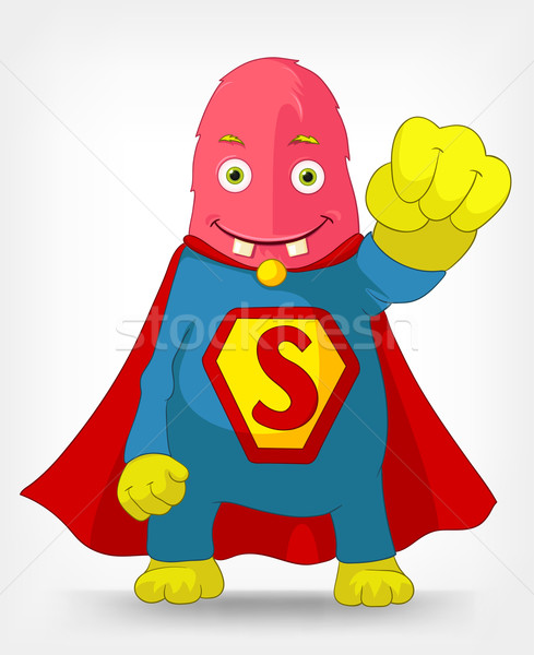 Funny Monster. Super hero. Stock photo © RAStudio