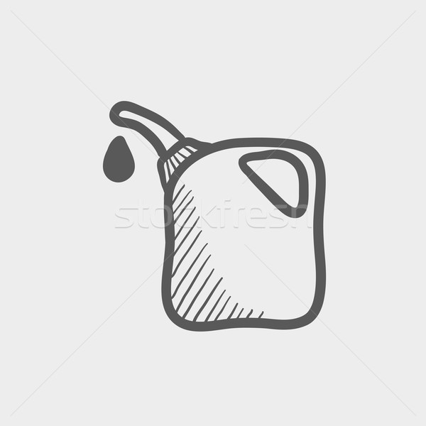 Benzinkút pumpa fúvóka rajz ikon háló mobil Stock fotó © RAStudio