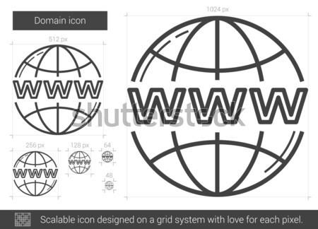 Stock fotó: Földgömb · website · design · vékony · vonal · ikon · háló