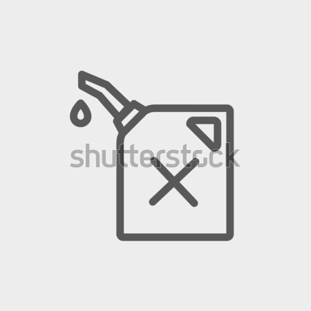Gasolina bombear bocal fino linha ícone Foto stock © RAStudio