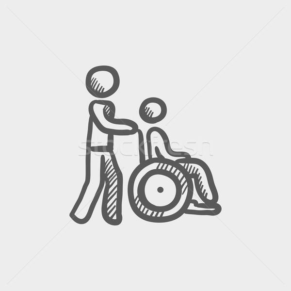 Nursing care sketch icon Stock photo © RAStudio