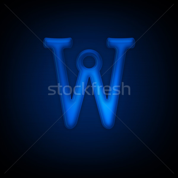 Neon list w odizolowany czarny alfabet Zdjęcia stock © RAStudio