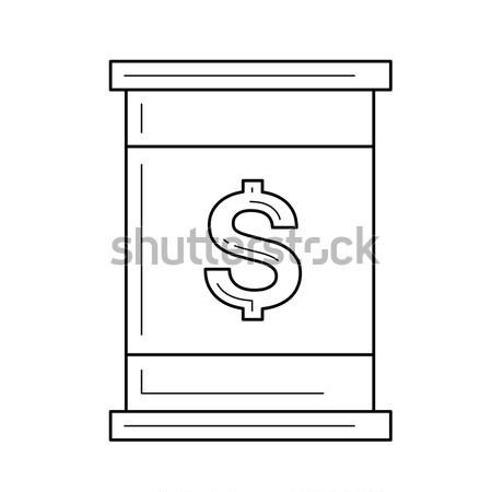 баррель излучение знак икона мелом Сток-фото © RAStudio