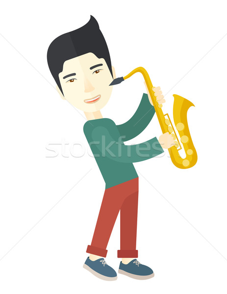 Saxophonist. Stock photo © RAStudio