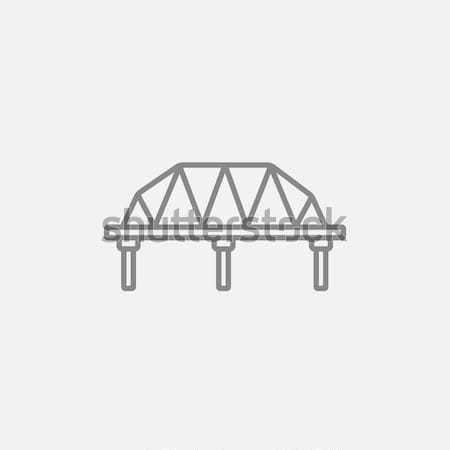 Sín út híd vonal ikon háló Stock fotó © RAStudio