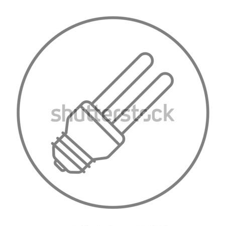 énergie ampoule ligne icône web Photo stock © RAStudio