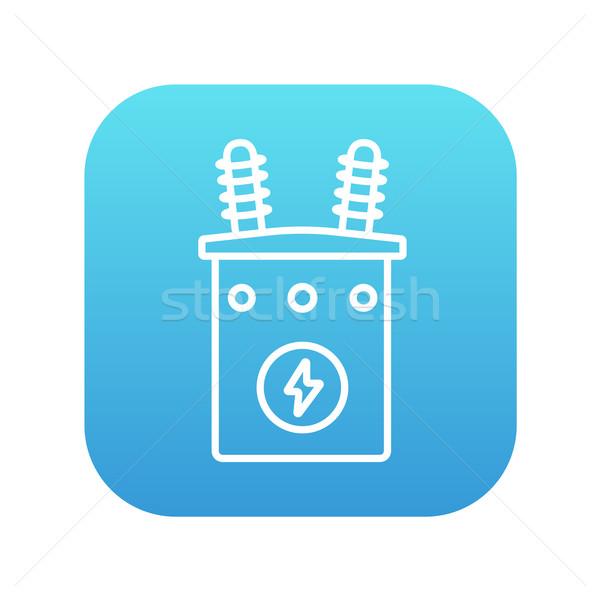 высокое напряжение трансформатор линия икона веб мобильных Сток-фото © RAStudio