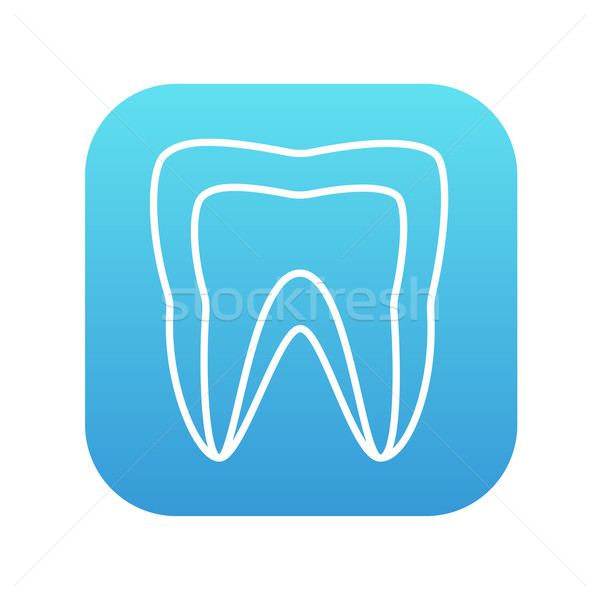 Molar tooth line icon. Stock photo © RAStudio