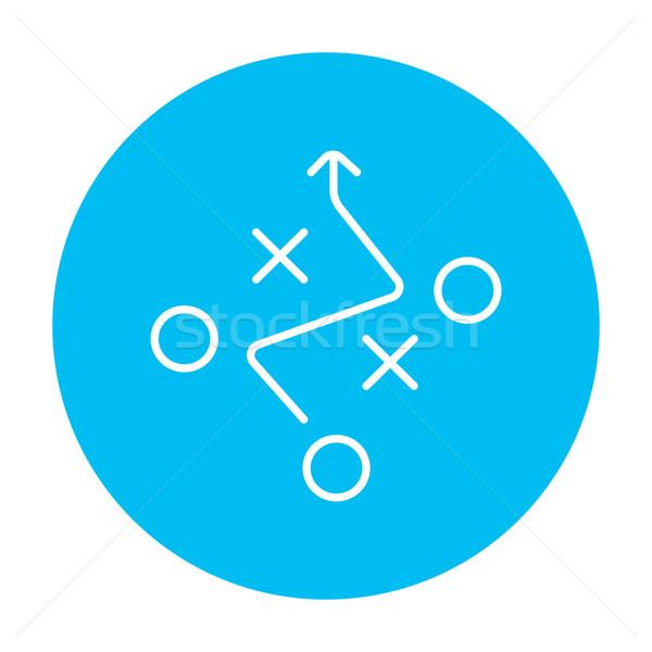 Taktik plan hat ikon web hareketli Stok fotoğraf © RAStudio
