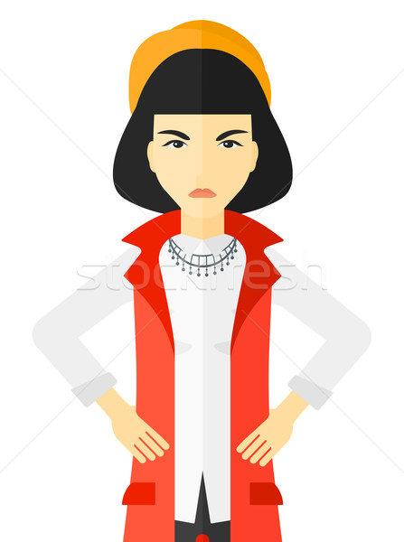 Detesting angry woman. Stock photo © RAStudio