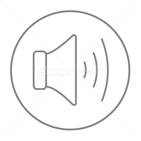 Speaker volume line icon. Stock photo © RAStudio