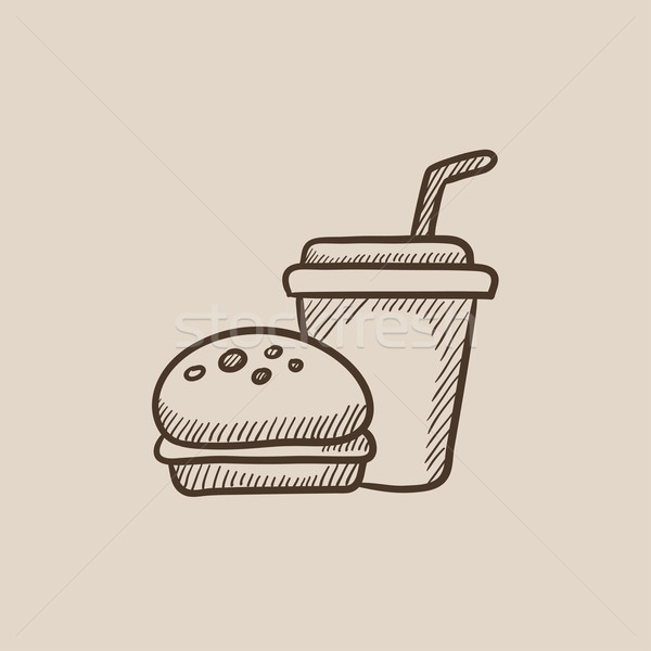 Fast food meal sketch icon. Stock photo © RAStudio