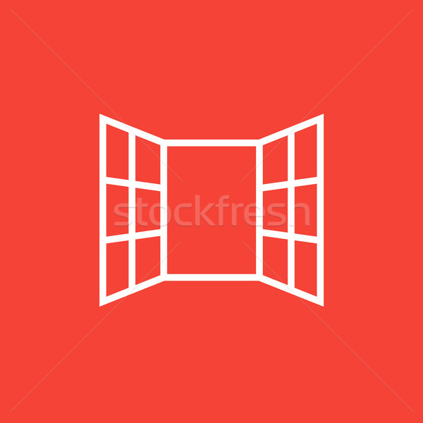 Open windows line icon. Stock photo © RAStudio