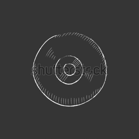 Reel tape deck player recorder. Drawn in chalk icon. Stock photo © RAStudio