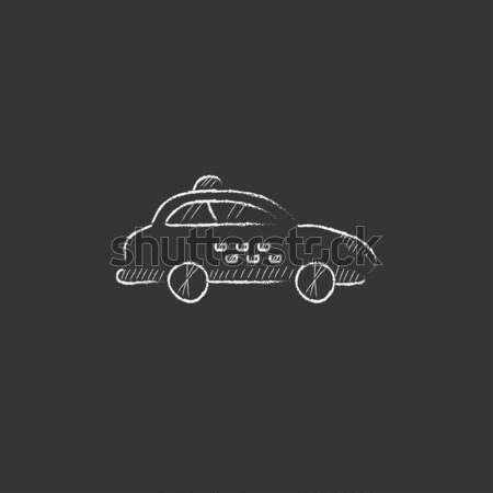 Taxi car. Drawn in chalk icon. Stock photo © RAStudio