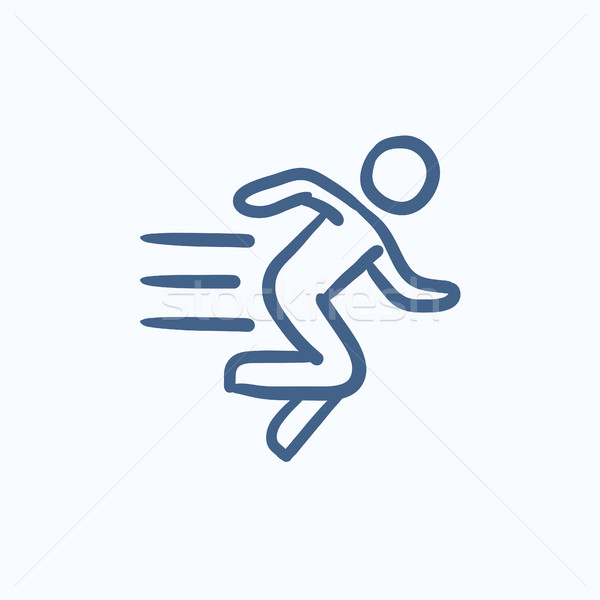 Running man sketch icon  vector illustration © Andrei Krauchuk