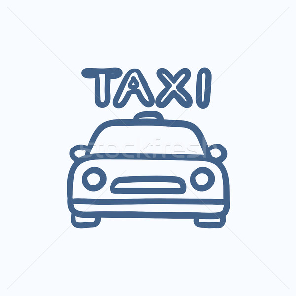 Taxi sketch icon. Stock photo © RAStudio