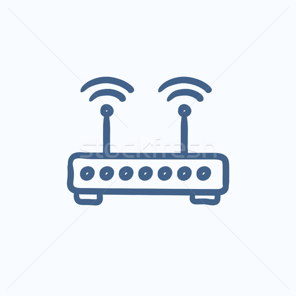 Wireless router sketch icon. Stock photo © RAStudio