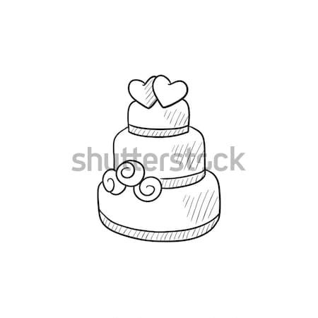 Wedding cake sketch icon. Stock photo © RAStudio