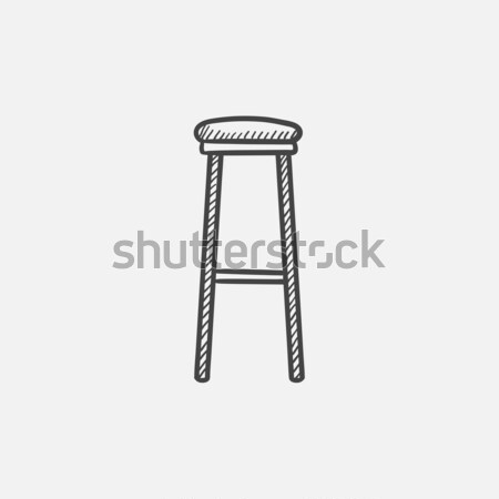 Barstool sketch icon. Stock photo © RAStudio