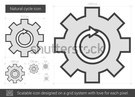 Netzwerk Einstellungen line Symbol Vektor isoliert Stock foto © RAStudio