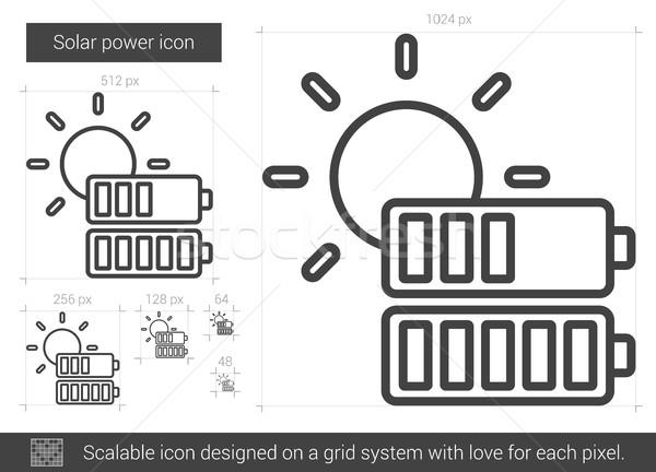 Solar power line icon. Stock photo © RAStudio