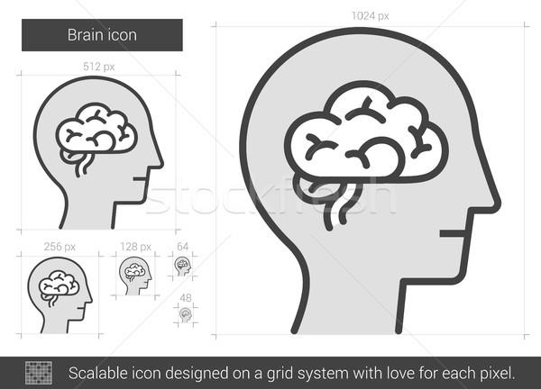 Brain line icon. Stock photo © RAStudio